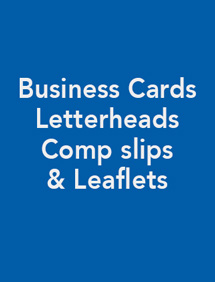 Business Cards, Letterheads, Comp slips and Leaflets